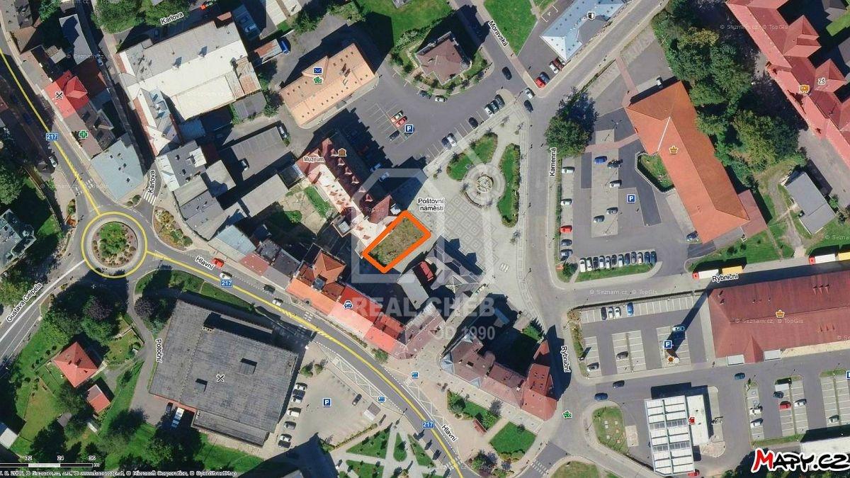 Pozemek vcentru města– Aš, Poštovní náměstí.