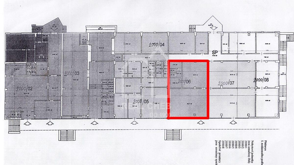 Pronájem nebytového prostoru vChebu, ul. Přátelství  , Přátelství 2000/6 Cheb