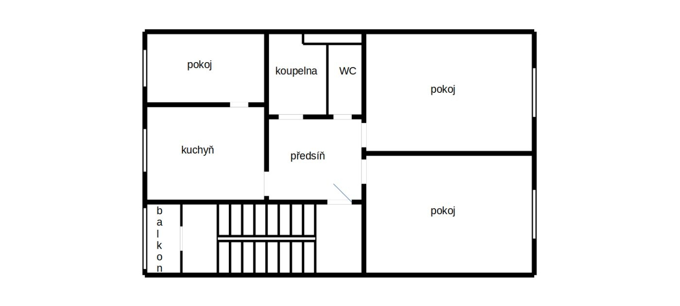 Prostorný byt 3+1vChebu, ul. 17.listopadu.  , 17. listopadu 1036/21, 350 02 Cheb