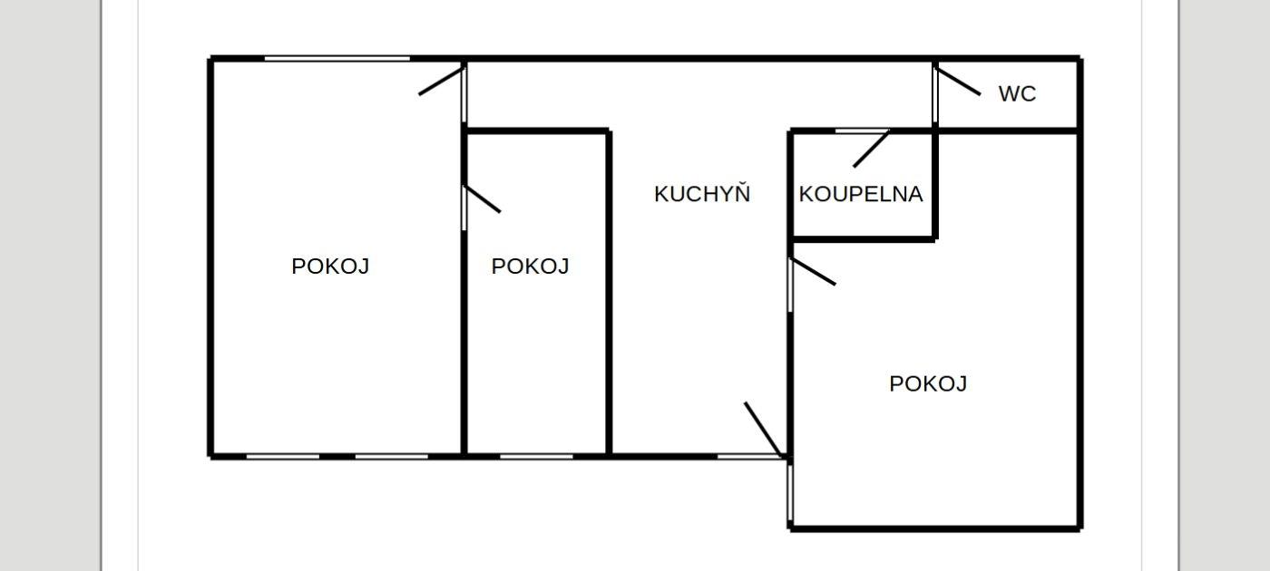 Byt nebo nebytový prostor 3+1vChebu, Májovául.  , Májová 1689/67, 350 02 Cheb
