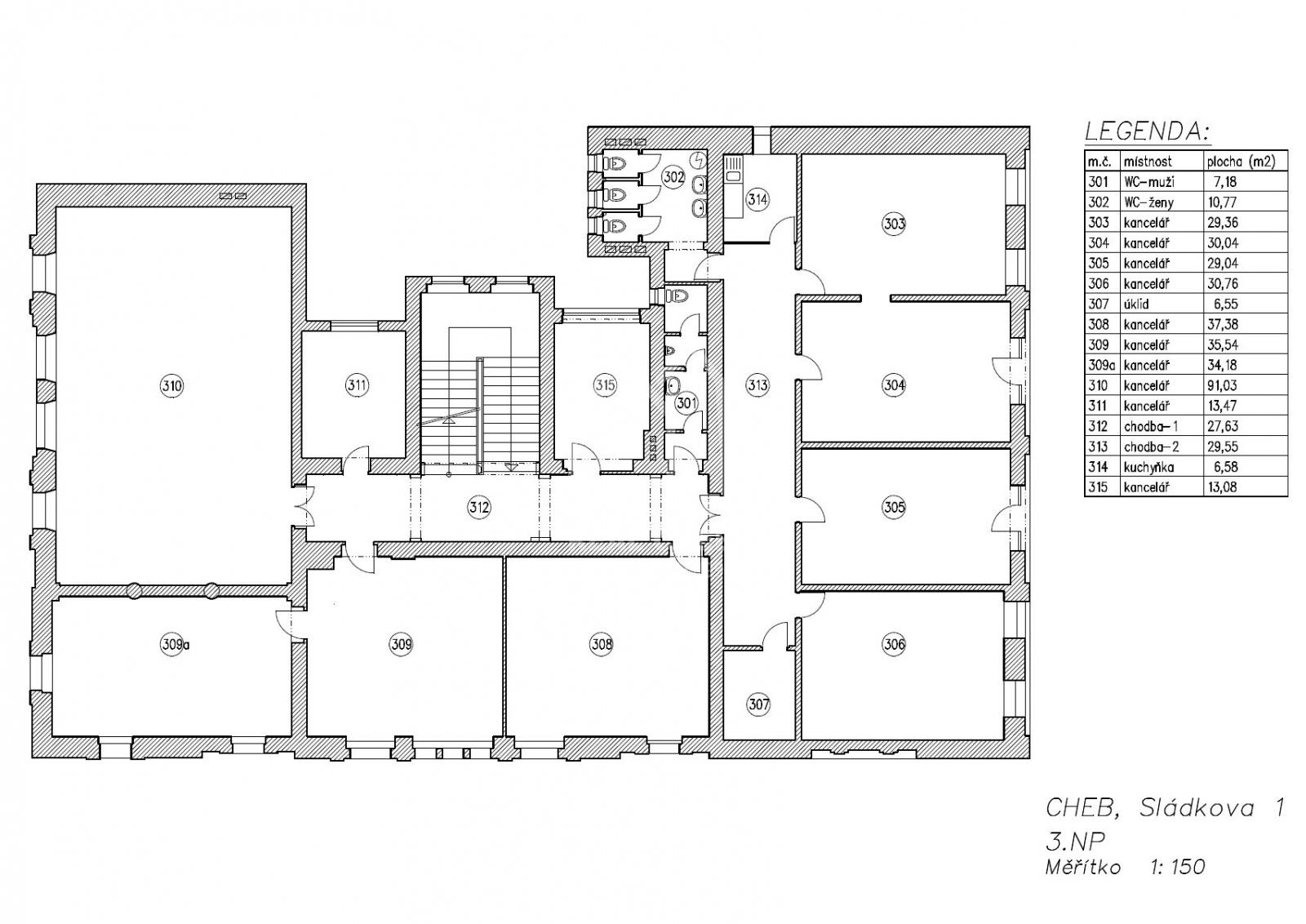 Prostory kancelářské pronájem  , Cheb, centrum