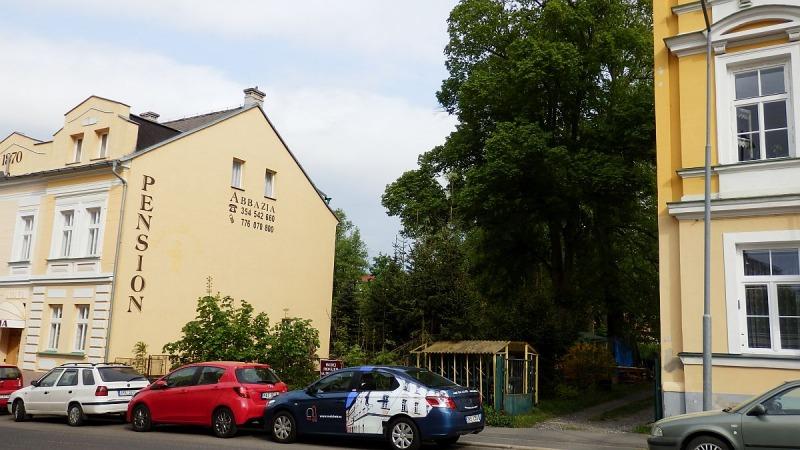Stavební pozemek vcentru Františkových Lázní, Francouzskául.